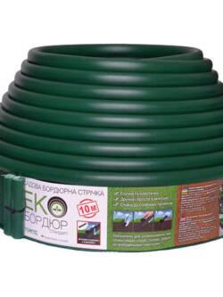 Садовий бордюр Екобордюр Стандарт 10 м (зелений)